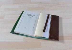 画像2: ブックカバー 文庫本 新書 イタリアンレザー カラーオーダーメイド