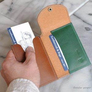 画像3: スマートカードケース イタリアンレザー カラーオーダーメイド