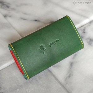 画像3: キーケース 6連金具 イタリアンレザー カラーオーダーメイド