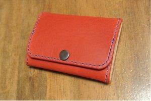 画像2: 大きく開くボックスコインケース カードサイズ 背面2ポケット イタリアンレザー カラーオーダーメイド