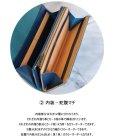 画像4: 大容量長財布 ファスナーコインケース オールレザー 牛革 イタリアンレザー カラーオーダーメイド